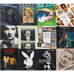 Exceptional and extensive (300+) entertainment memorabilia auction catalog collection.