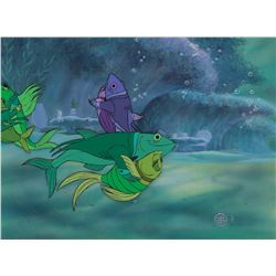 """""""Fish"""" production cels on a production background from Bedknobs and Broomsticks."""