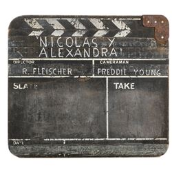 Nicholas and Alexandra clapperboard used by Oscar-winning cinematographer Freddie Young.