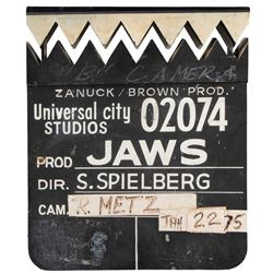 Jaws production used shark's teeth clapperboard.