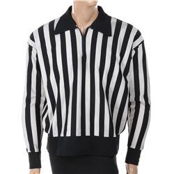 Bob Zmuda black and white referee shirt.