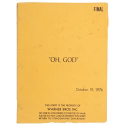 "Oh, God! ""Final"" draft screenplay by Carl Reiner."