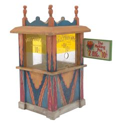 1941 model miniature pier ticket booth.