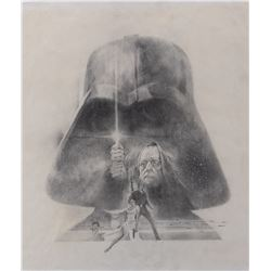 Star Wars original poster concept artwork by Tom Jung.