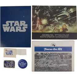 Star Wars ephemera and swag from cast, crew and film critics screening in 1977.