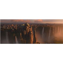 """""""Naboo"""" digital matte painting proof that hung at ILM."""
