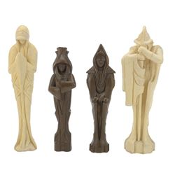 """Star Wars: Episode II - Attack of the Clones (4) ILM maquettes for statues - """"Four Sages of Dwarti""""."""