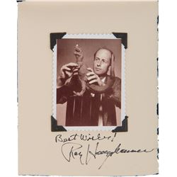 """Original Skywalker Ranch invitation to a """"Private Dinner with Ray Harryhausen"""" Signed by Harryhausen"""