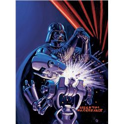 """Brothers Hildebrandt """"Darth Vader"""" artwork for """"Shadows of the Empire"""" trading card #12."""