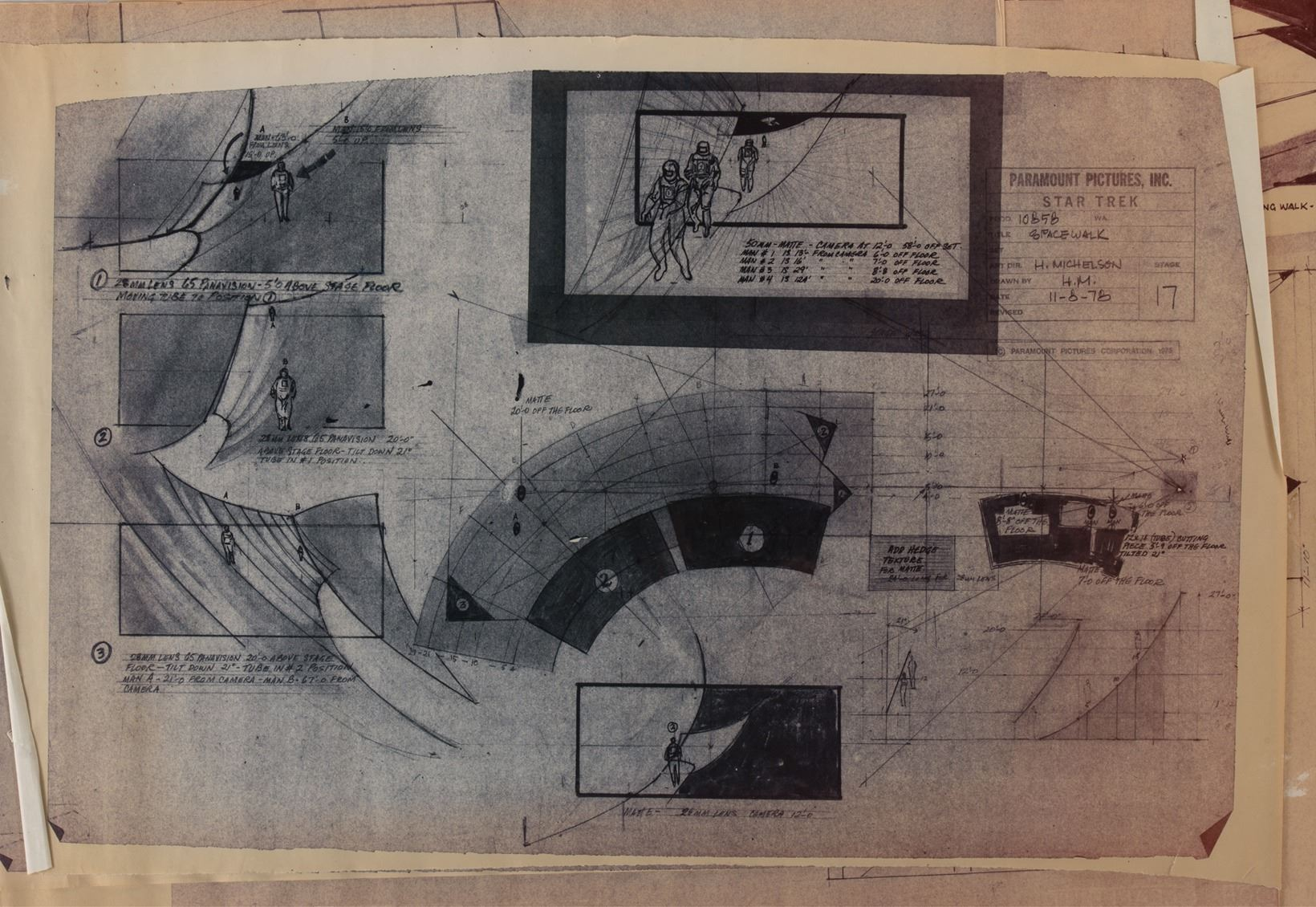Star Trek: The Motion Picture (10+) production schematics. on