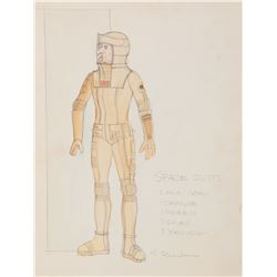 """Leonard Nimoy """"Spock"""" costume sketch by Robert Fletcher from Star Trek: The Motion Picture."""