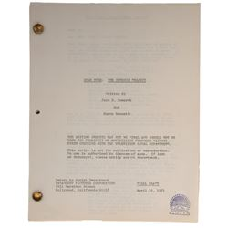 "Star Trek II: The Wrath of Khan Final Draft script - working title: ""Star Trek: The Genesis Project"""