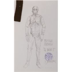 """""""Female Borg"""" costume sketch by Durinda Wood for Star Trek: The Next Generation Episode, """"Q Who."""""""