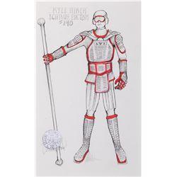 "Jonathan Frakes ""William Riker"" (2) working costume sketches by Durinda Wood for Star Trek: TNG."