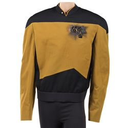 "Michael Dorn ""Worf"" Starfleet tunic from Star Trek: The Next Generation."