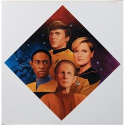 "Star Trek ""Starfleet Security"" Hamilton collector's plate artwork by Todd Treadway"