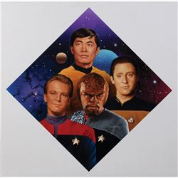 "Star Trek ""Starfleet Navigators"" Hamilton collector's plate artwork by Todd Treadway."