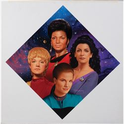 "Star Trek ""The Women of Star Trek"" Hamilton collector's plate artwork by Todd Treadway."