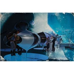 "Syd Mead signed original artwork ""The Party"" for the United States Steel Portfolio."