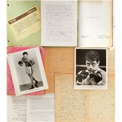 Raging Bull writer Peter Savage archive for the Jake LaMotta novel and the film, Raging Bull.