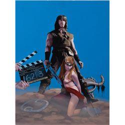 Cinefantastique drawing by Roger Stine for the film Conan starring Arnold Schwarzenegger.