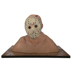 """Friday the 13th Part III makeup effects lab office """"Jason Vorhees"""" display bust."""