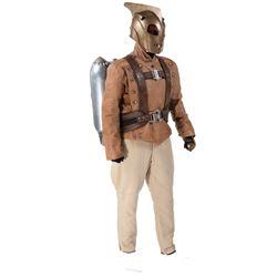 "Bill Campbell ""Rocketeer"" costume ensemble with hero metal rocket pack - Disney COAs - The Rocketeer"