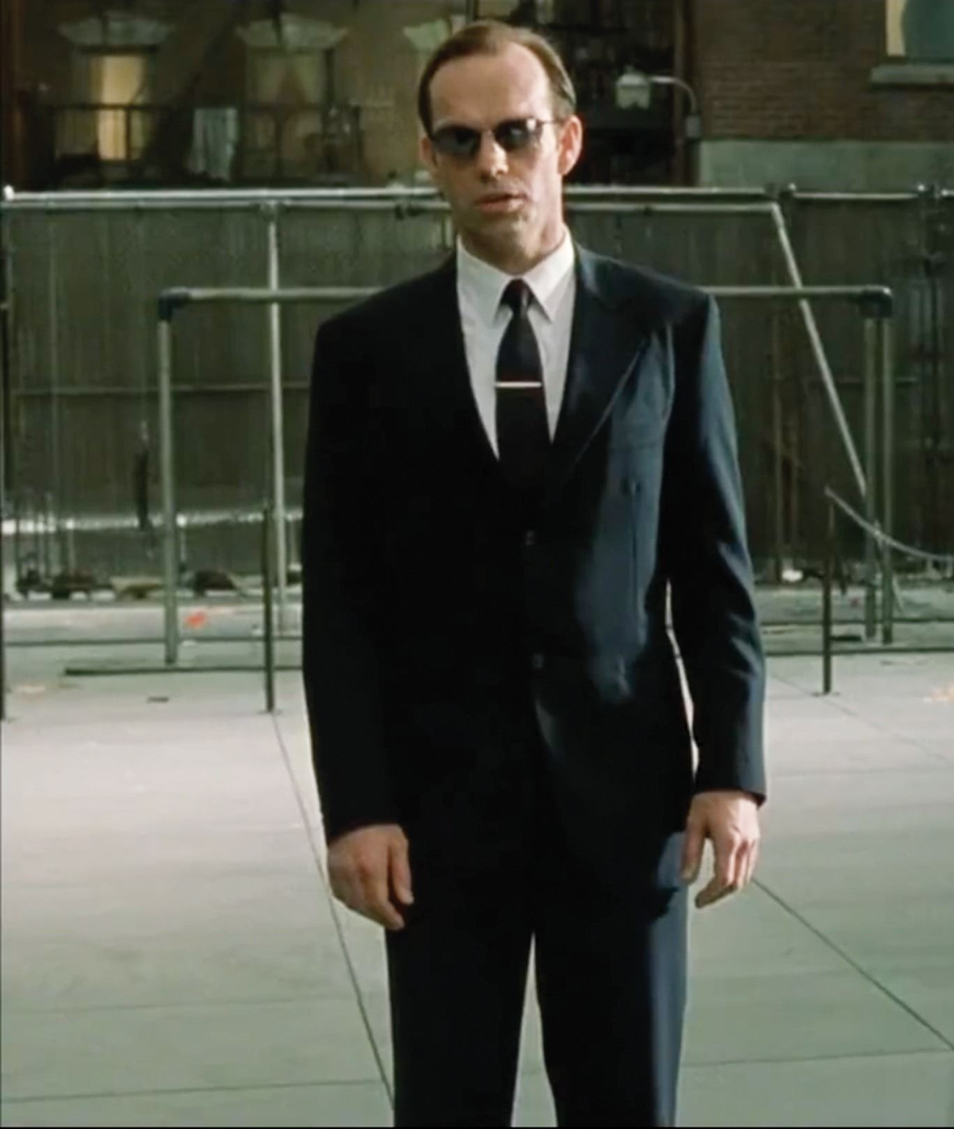 "6df822b2b12d ... Image 5 : Hugo Weaving ""Agent Smith"" suit and stunt .50 caliber Desert  ..."