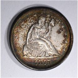 1875-S TWENTY CENT PIECE, AU/BU
