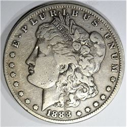 1888-S MORGAN DOLLAR, VF/XF