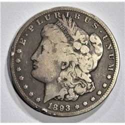 1893-CC MORGAN DOLLAR, FINE