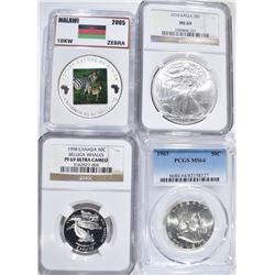 LOT:  2004 MALAWI COIN; 1998 CANADA 50 CENTS