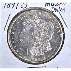 1897-S MORGAN DOLLAR  CH BU PL