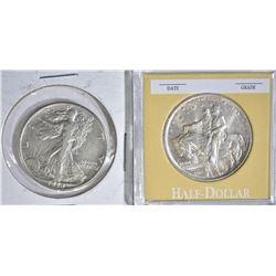 2 HALF DOLLARS:  1925 STONE MOUNTAIN AU &
