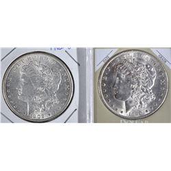 2 BU MORGANS:  1890-S & 1902-O
