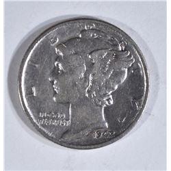 1942/1 MERCURY DIME  AU