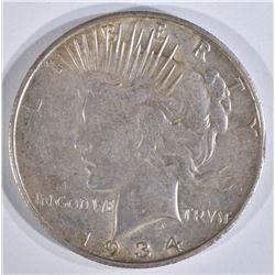 1934-S PEACE DOLLAR  CH AU