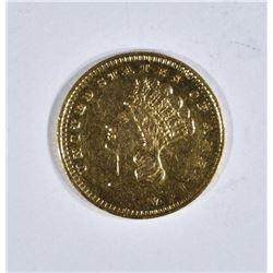 1858-S GOLD $1 DOLLAR  BU
