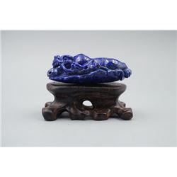 """A Lapis Lazuli """"Chi Dragon"""" Pendant."""