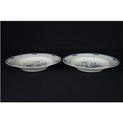 A Pair of Qing Dynasty Export Blue-and-White Plates.