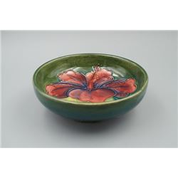 "A Small ""Floral"" Dark Green Dish."