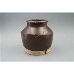 A Small Brown-Glaze Jar.