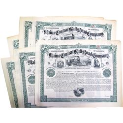 Maine Central Railroad Bonds (6)