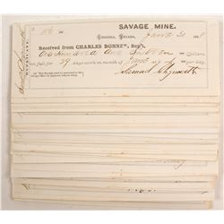 Savage Mine, Virginia City, NV Check Collection