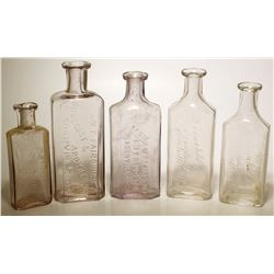 W. F. Fairchild Drug Bottles (5)