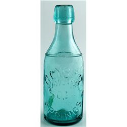 GEYSER SPRINGS SODA BOTTLE