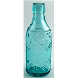 LYTTON GEYSER SPRINGS SODA BOTTLE