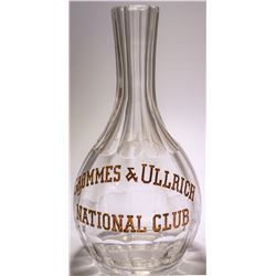 Grommes & Ullrich /National Club /  Backbar Decanter