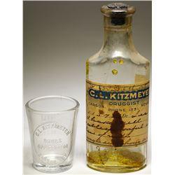 C. L. Kitzmeyer Drugstore Bottles (2 items)