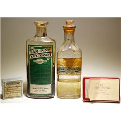 Jacob A. Muller Pharmacist Bottles   (4 items ).